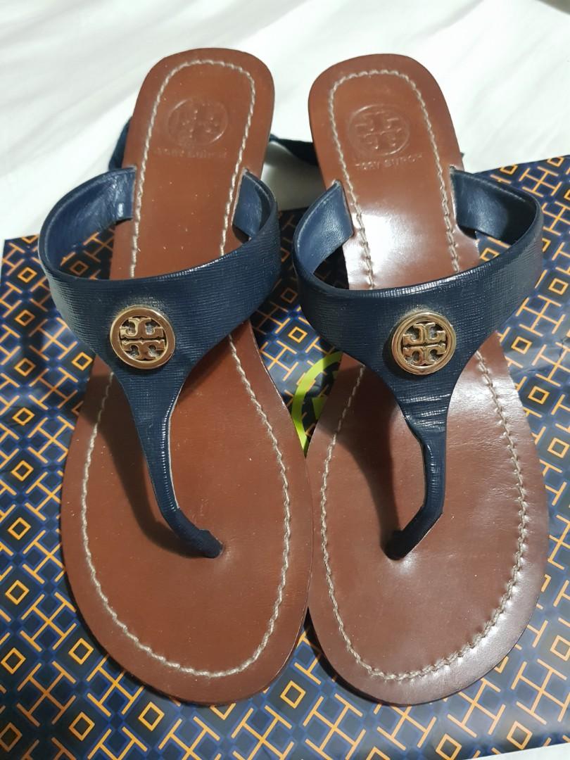 6c4c2fe298fcc8 Tory burch wedge sandals 7.5