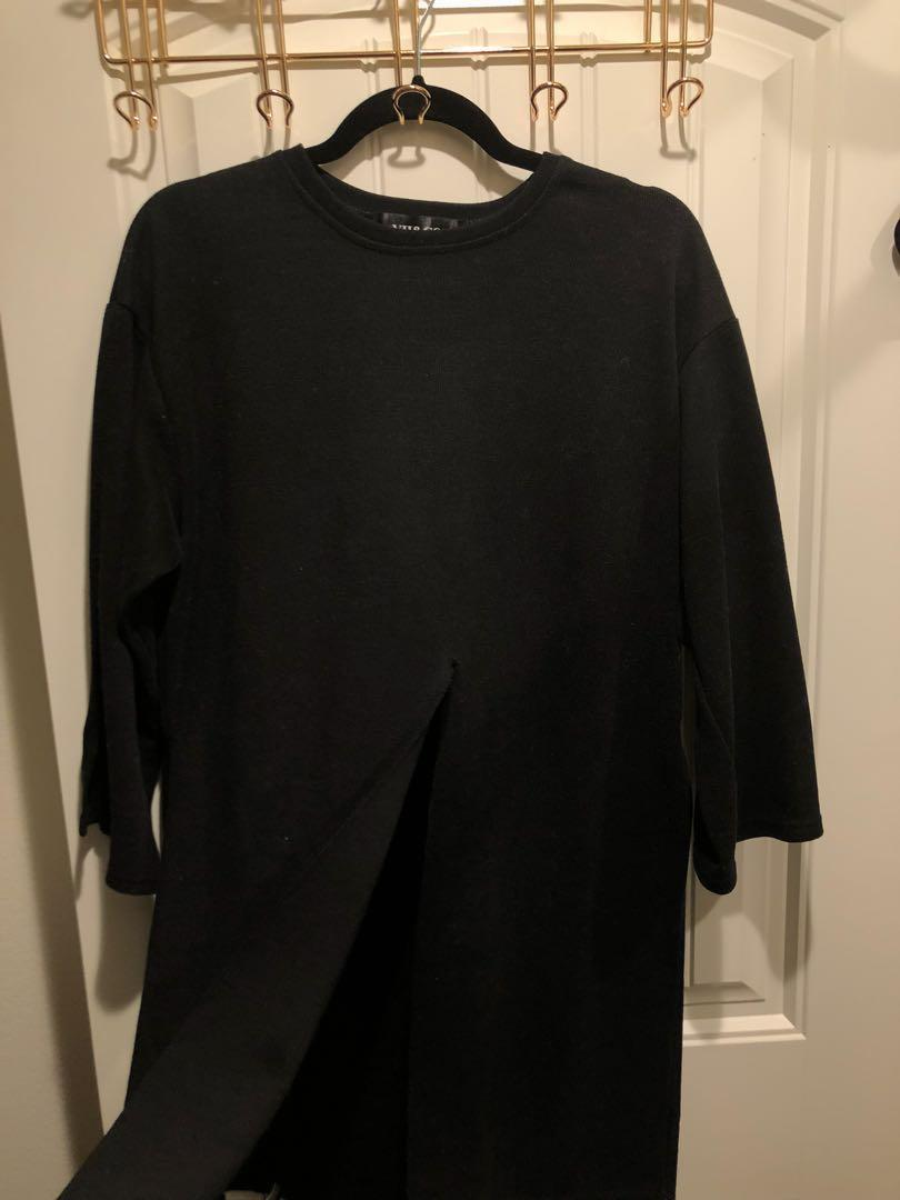 Vii & Co 暗黑個性長版衣