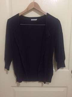 Bossini Black Knitted Cardigan