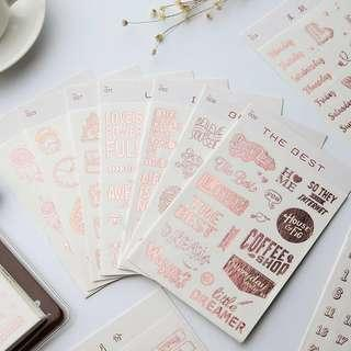 Rose gold planner sticker (B)