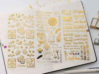 Gold sticker/ Planner stickers