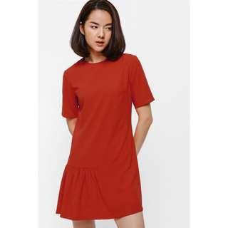 Love Bonito Aeska Asymmetrical Ruffle Hem Dress