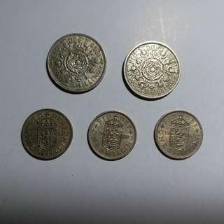 【興趣收藏】英國舊硬幣 United Kingdom old coins: Elizabeth II (全套)
