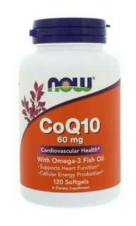 Now Foods, 輔酶Q10,60毫克,120粒軟膠囊 Now Foods, CoQ10, 60 mg, 120 Softgels