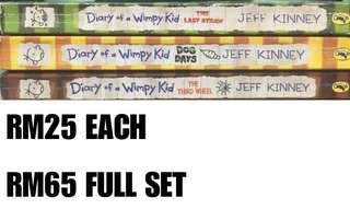 Diary of a wimpy kid paperbag & hardcovers
