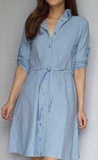 (New) Simple Denim dress