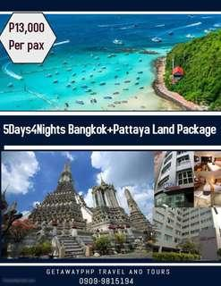 5days 4nights  Bangkok + Pattaya All in Land Package