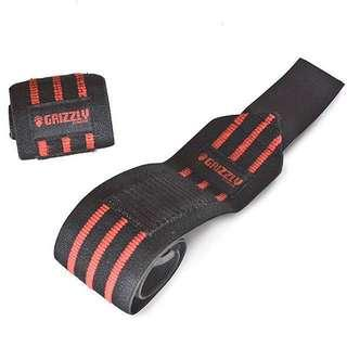 🚚 Heavy Duty Red Line Wrist Wrap (1 pair) - Grizzly
