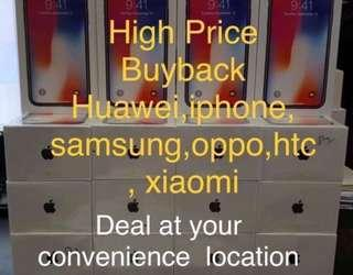 High price buyback new used samsung oppo huawei iphone xiaomi