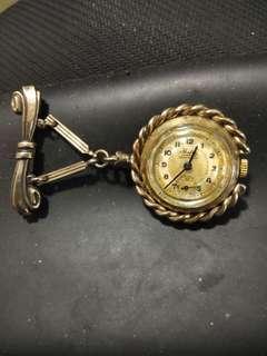 古董心口針上鍊掛表
