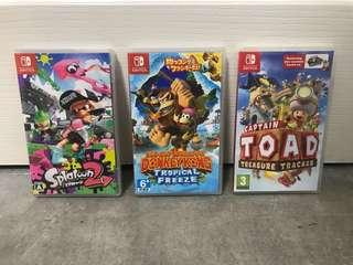 Switch game Splatoon2  Donkey Kong TOAD