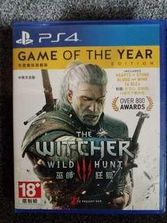 WITCHER 3: GAME OF THE YEAR PS4 GAME