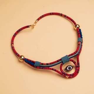 Necklace kalung one eye ethnic tribal