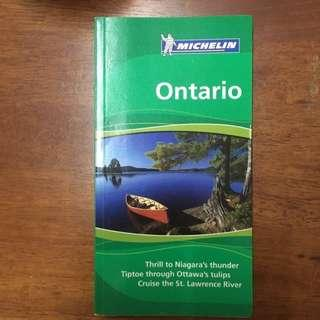Michelin Travel Guide Ontario (including Toronto, Ottawa, Montreal, Niagara falls)