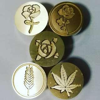 🚚 [In Stock] Flower and Leaf Wax Seal Stamp Heads