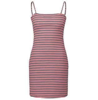 Striped dress with tie up back