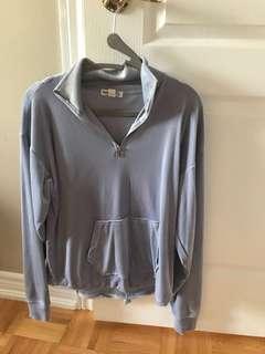 Blue velvet sweater