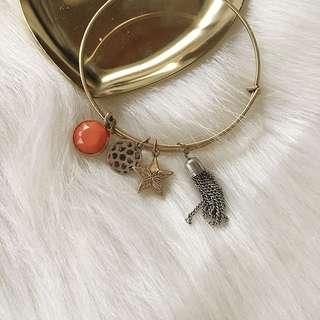 🚚 全新🇺🇸金屬銅細環垂墜吊飾手環