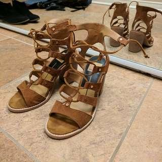 Size 6, Dolce Vita, nude colour summer heels