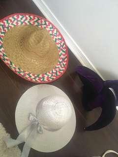 Sombrero, sun hat, jester hat