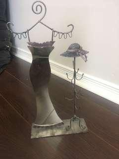 Jewellery holder with Mirror