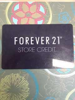 Forever 21 80$ credit gift card