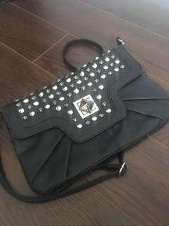 Black body strap bag with stones