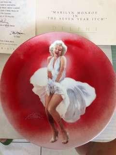 🚚 Marilyn Monroe 瑪麗蓮夢露,限量盤子1990 發行!珍品收藏!附證書及說明書
