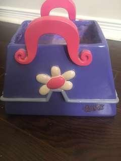 Purple Barbie item holder