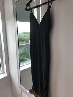 Black fashionova midi dress