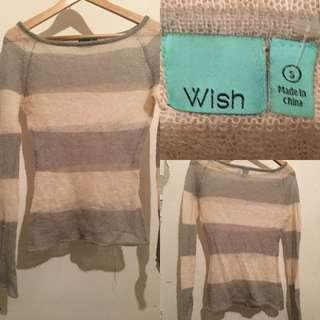 WISH Striped Light Weight Knitted Sweater