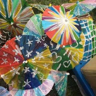 Batik painting on umbrella