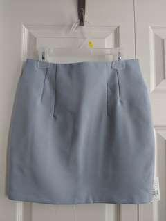 Greyish Baby Blue Skirt