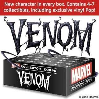 🚚 Funko Pop Venom Subscription Box Marvel Collector Corps MCC Exclusive Vinyl Figure Collectible Toy Gift