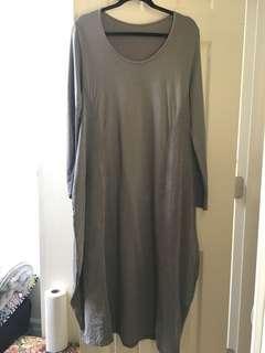 Grey vintage maxi dress