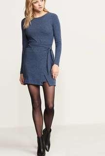 Selling blue dynamite wrap dress size small
