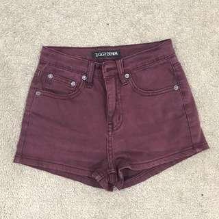 Ziggy Maroon Shorts | Size 8