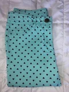 Turquoise Heart Jeans