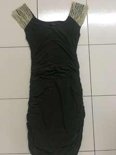 Dark green sexy mini dress for dinner