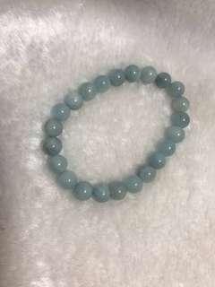 Natural Brazil Aquamarine Bracelet 天然巴西海蓝宝手链 8mm