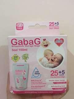 Gabag breastmilk storage bag buat ASI isi 30