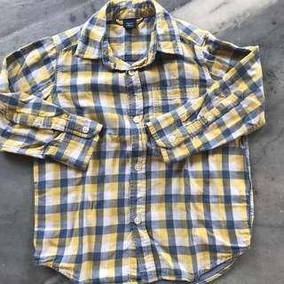Gap kids plaid longsleeves