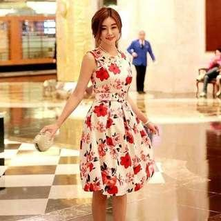 👉RS PRICE: 430  📣RESTOCK:BEST SELLER DRESS WITH BELT ✅1 color ✅fabric:georgette cotton ✅free size:fit up to semi l *cm