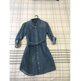Forever New Denim Dress Size 10