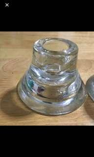 Ikea glass long candle holder pair repriced fr 399.99