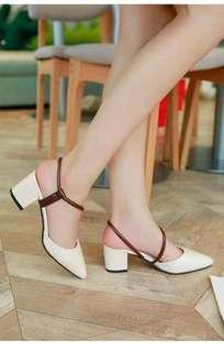 Korean sandals Rs: 530  Black-36 to 39.    White-35 to 40.     2 inch. *l.k