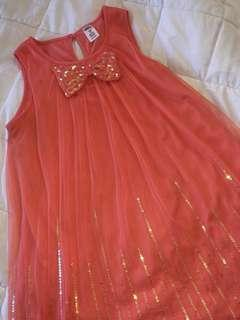 Peach Kids Dress