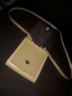 Genuine Leather Sling Bag from Japan