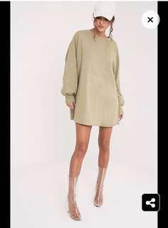 Sage coloured jumper dress