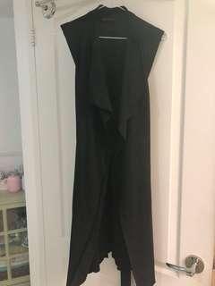 Zara faux suede waterfall vest